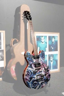 Chad's Fender Jaguar Guitar phototaken at Mansun Convention 2014