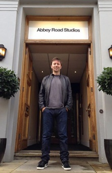 Paul standing outside Abbey Road Studios